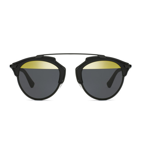 Dior // Men's Diorsoreal Sunglasses // Gold + Black + Gold