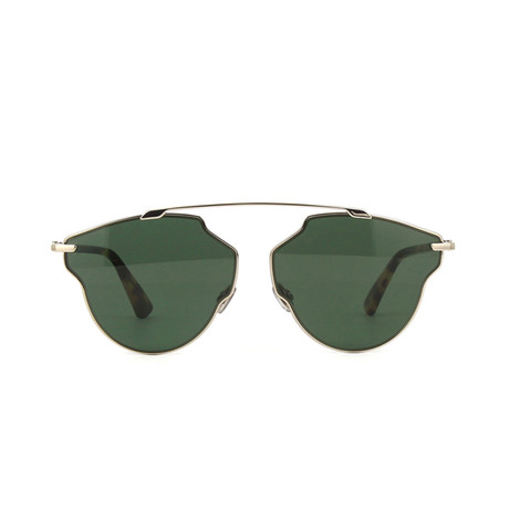 Dior // Men's Diorsorealpop Sunglasses // Light Gold + Havana + Green
