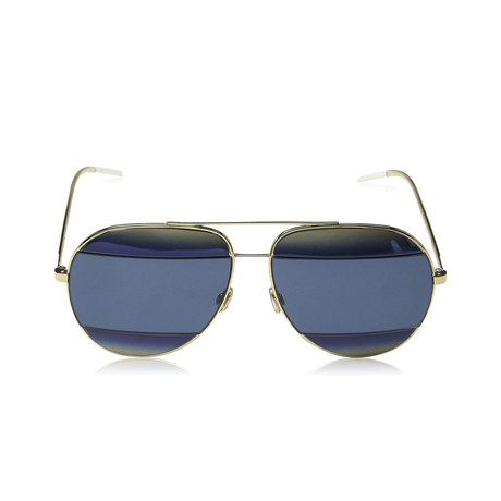 Dior // Men's Diorsplit1 Sunglasses // Blue + Gold Shaded Blue Gray