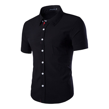 Short Sleeve Shirt // Black Solid (S)