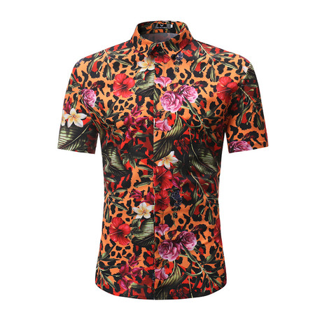 Short Sleeve Shirt // Multi Color Nature (S)