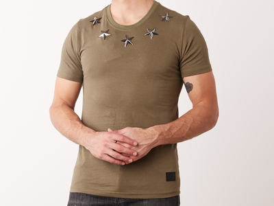 Photo of Conflict Graphic Tees & Polos Metal Stars T-Shirt // Army (XS) by Touch Of Modern