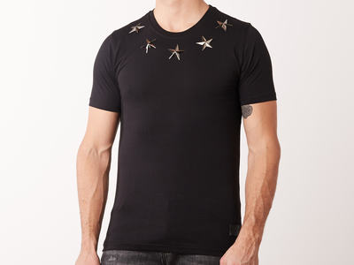 Photo of Conflict Graphic Tees & Polos Metal Stars T-Shirt // Black (S) by Touch Of Modern