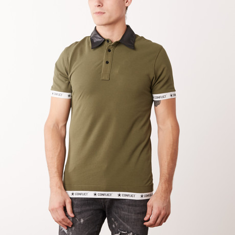 Leather Polo // Light Army (M)
