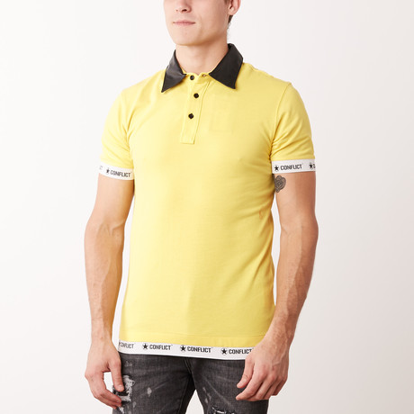 Leather Polo // Yellow (M)