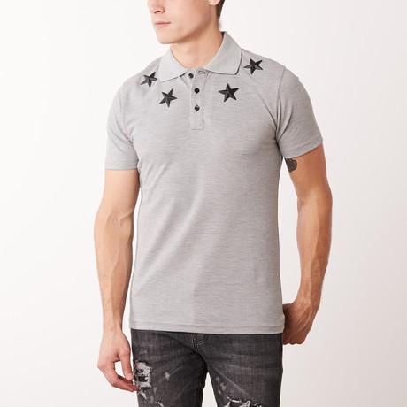 Metal Stars Polo // Grey Melange (M)