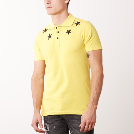 Metal Stars Polo // Yellow (M)