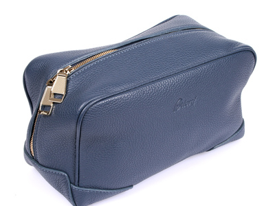 Photo of Brioni Dignified Leather Bags + Belts Leather Personal Care Case // Blue by Touch Of Modern