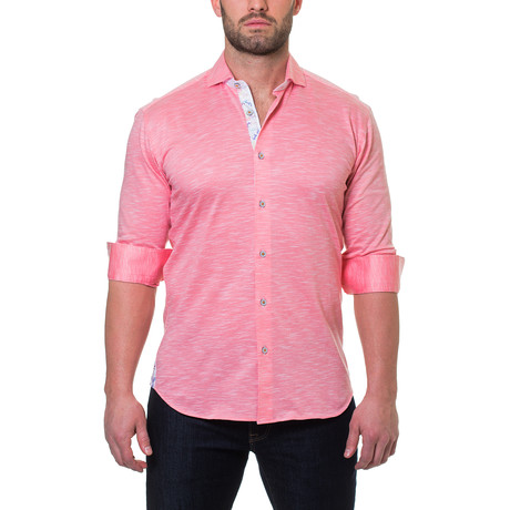 Wall Street Jersey Dress Shirt // Pink (S)
