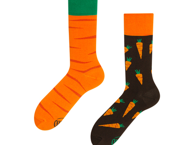 Photo of Many Mornings Colorful, Mismatched Socks Garden Carrot (Size 3-6) by Touch Of Modern