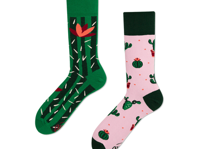 Many Mornings Colorful, Mismatched Socks Summer Cactus (Size 3-6) by Touch Of Modern - Denver Outlet