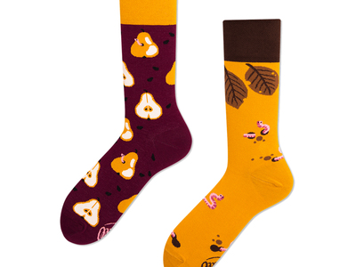 Photo of Many Mornings Colorful, Mismatched Socks Pear Pair (Size 3-6) by Touch Of Modern