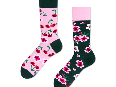 Photo of Many Mornings Colorful, Mismatched Socks Cherry Blossom (Size 3-6) by Touch Of Modern