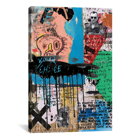 "A Lower Eastside Memory // PinkPankPunk (26""W x 18""H x 0.75"" D)"