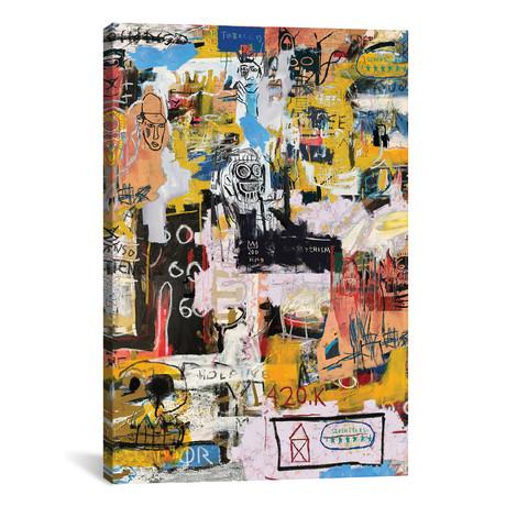 "Basquiat World // PinkPankPunk (26""W x 18""H x 0.75"" D)"