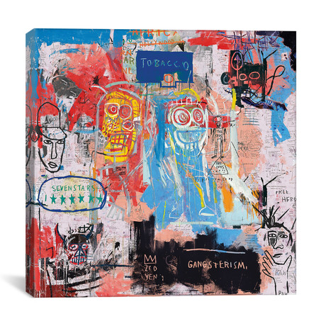 "Basquiat Style II // PinkPankPunk (18""W x 18""H x 0.75"" D)"