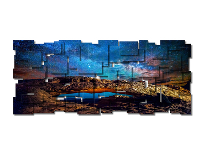 Photo of Karo Studios Glass & Metal Wall Sculptures Cosmos (Panoramic) by Touch Of Modern
