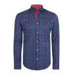 Capricornus Dress Shirt // Navy + Red (S)