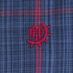 Capricornus Dress Shirt // Navy + Red (XS)