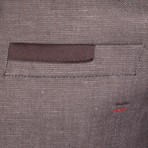 Leo Minor Blazer Jacket // Brown (S)