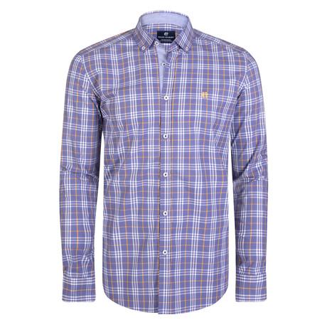 Boreas Dress Shirt // Lilac + Yellow + White (S)