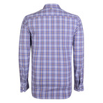 Boreas Dress Shirt // Lilac + Yellow + White (2XL)