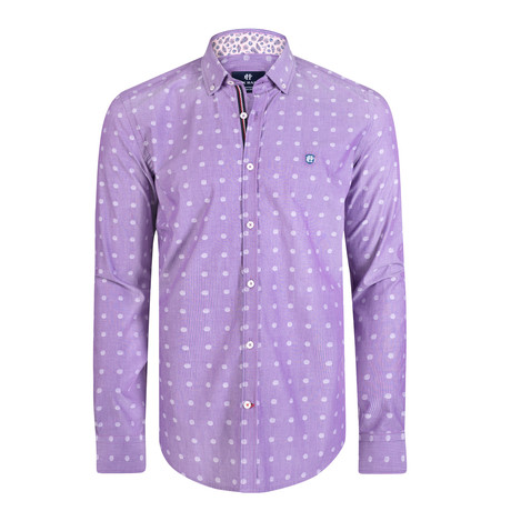 Aether Dress Shirt // Purple + Navy (XS)