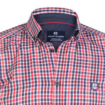 Eridanus Dress Shirt // Red + Navy + White (S)