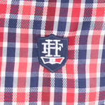 Eridanus Dress Shirt // Red + Navy + White (2XL)