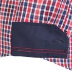 Eridanus Dress Shirt // Red + Navy + White (XS)