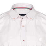 Momus Dress Shirt // White + Navy + Red (XL)