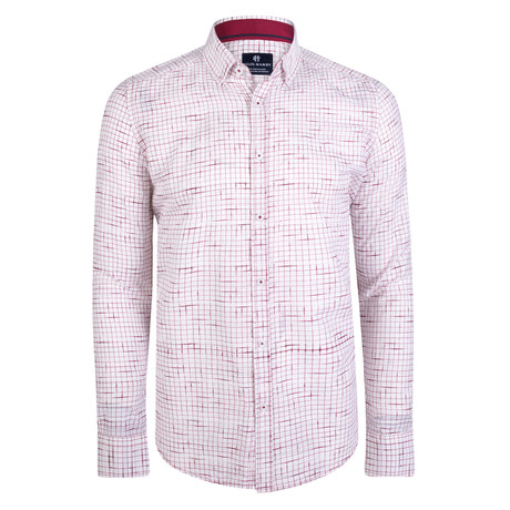 Cronos Dress Shirt // White + Red (XS)