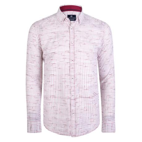 Cronos Dress Shirt // White + Red (S)