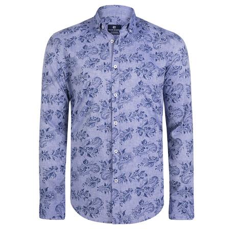 Caerus Dress Shirt // Blue + Navy (S)