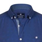 Apus Dress Shirt // Navy + Sax (2XL)