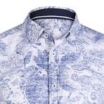 Cerus Dress Shirt // White + Navy (XS)