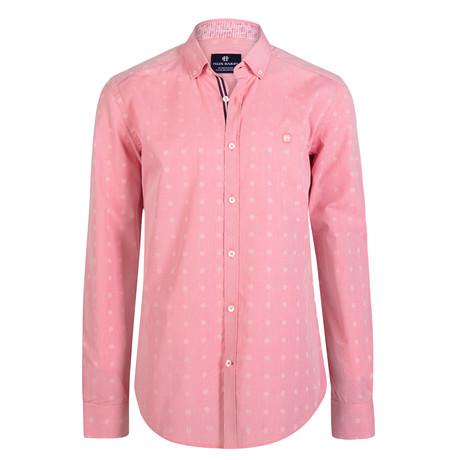 Aeolus Dress Shirt // Orange + Pink (XL)