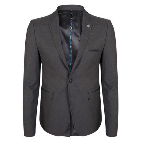 Grus Blazer Jacket // Brown (S)