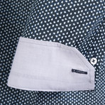 Delphinus Dress Shirt // Navy + White (XL)