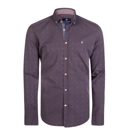 Ara Dress Shirt // Bordeaux + Gray (S)