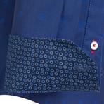 Apus Dress Shirt // Navy + Sax (XL)