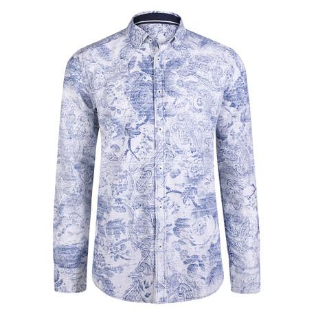 Cerus Dress Shirt // White + Navy (S)