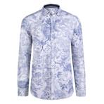 Cerus Dress Shirt // White + Navy (XL)
