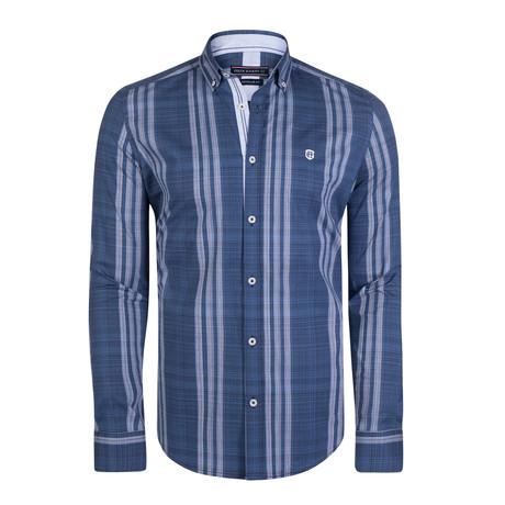 Bootes Dress Shirt // Navy + Blue (S)