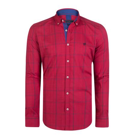 Centaurus Dress Shirt // Red + Navy (S)