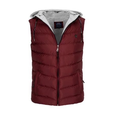 Hooded Vest // Bordeaux (S)