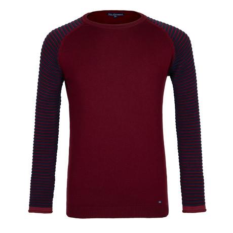 Brantley Sweater // Bordeaux + Navy (XS)