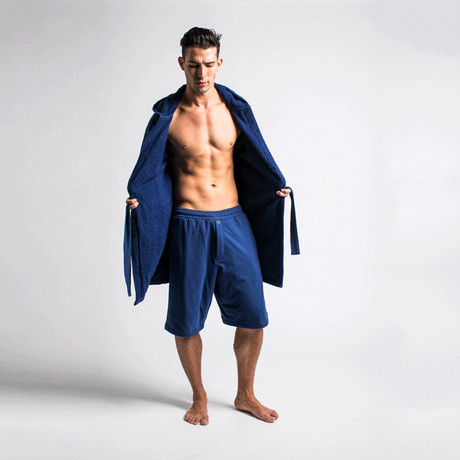 Robe + Shorts // Navy (S/M)