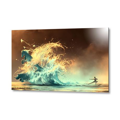 "Mana Tide // Aluminum Print (16""W x 24""H X 1.5""D)"
