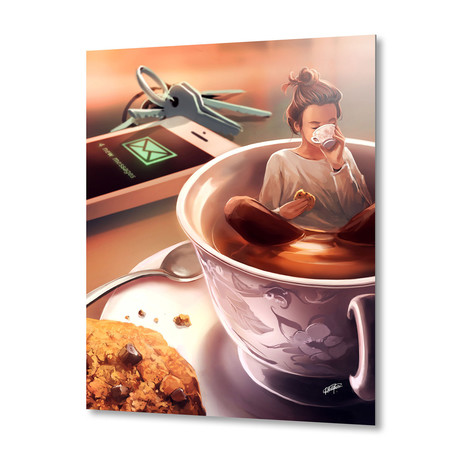 "Tea Time // Aluminum Print (16""W x 20""H X 1.5""D)"